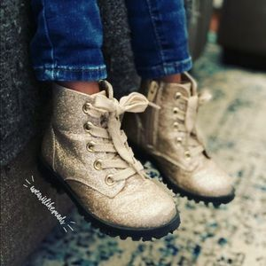 Target Shoes - Sparkle // Glitter Gold ✨ Combat Boots from Target